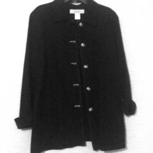 Navy oversized nautical coat. Has a pea coat look